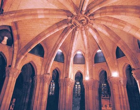 Tratamiento de humedades en la Cripta de la Sagrada Familia de Barcelona
