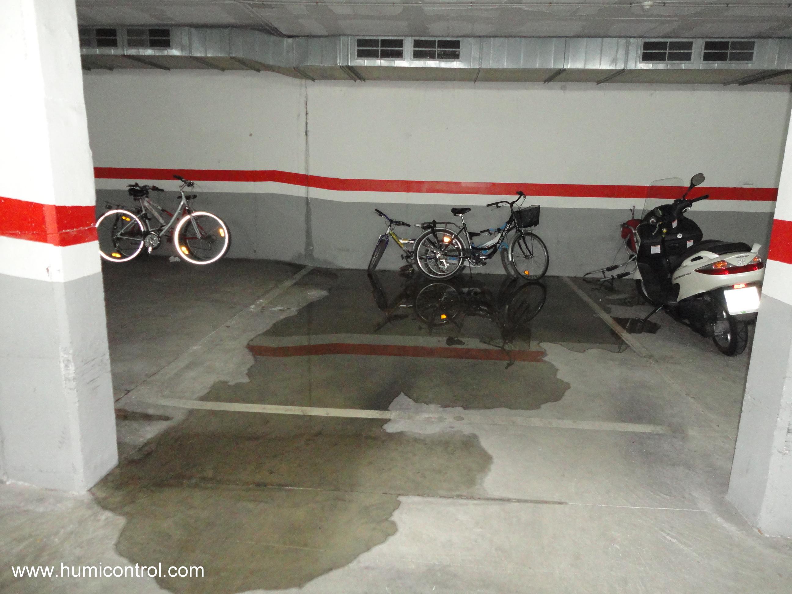 Filtraciones de agua en parking