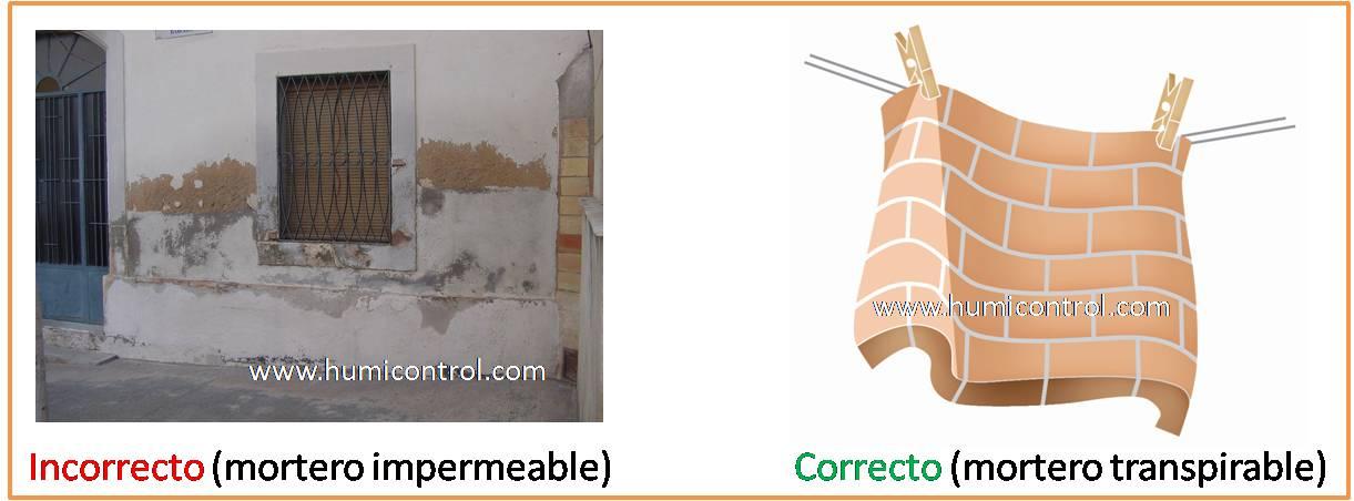 Error: aplicación de mortero impermeable contra humedades