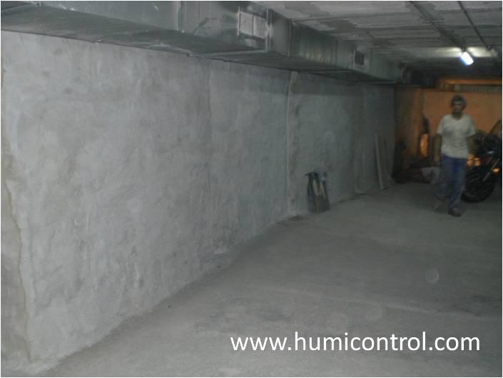 Humedades por filtración de agua en sótanos (después)
