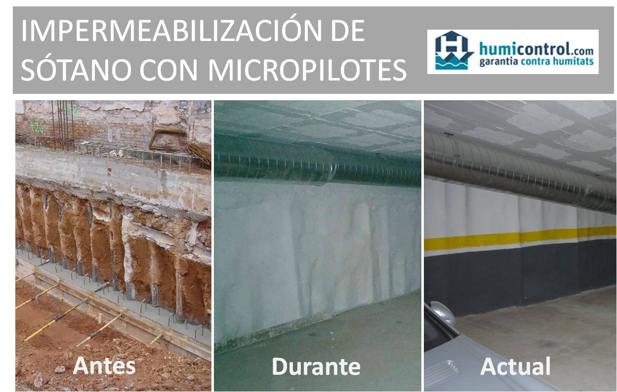 Impermeabilizacion sotano con micropilotes