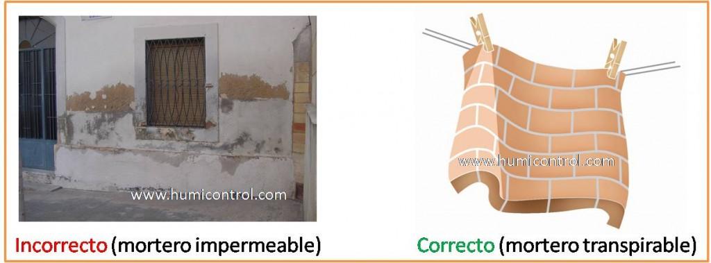 Aplicación de mortero impermeable contra humedades