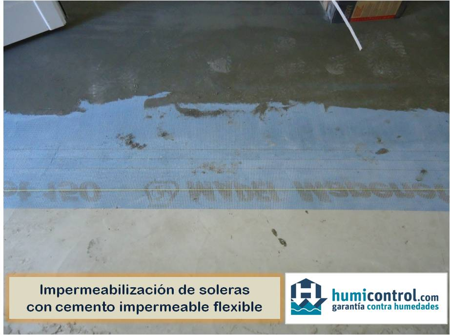 Impermeabilizacion de soleras con mortero impermeable flexible