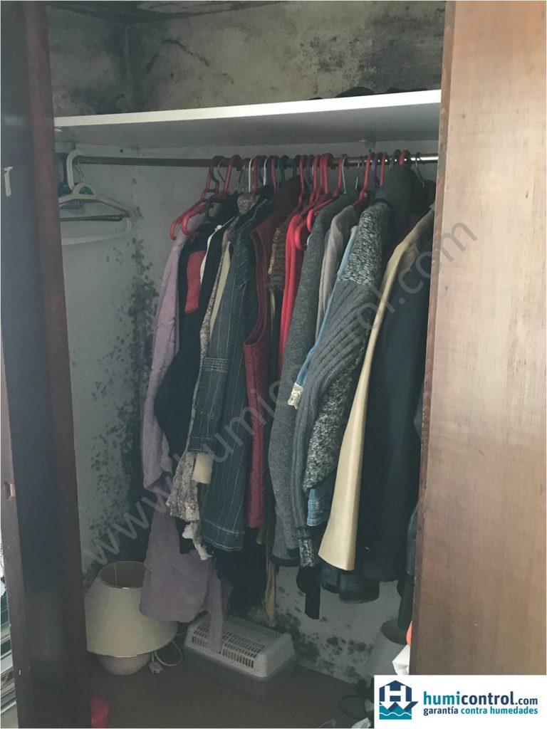 Condensaciones en armario